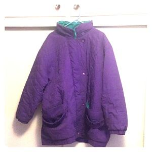 CHECK THIS OUT. Purple 90s style jacket .